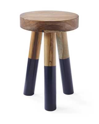Dip-Dyed Small Stool - navy - Serena and Lily