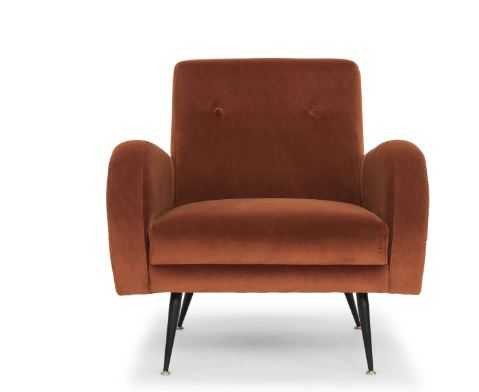 Hugo Occasional Chair in Rust design by Nuevo - Burke Decor