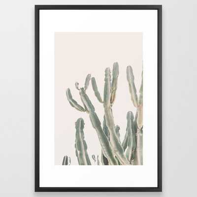 Sunrise Cactus Framed Art Print - Society6