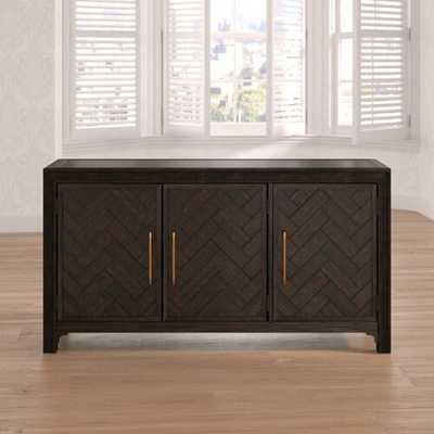 Fincher 3 Door Accent Cabinet- brown - Wayfair