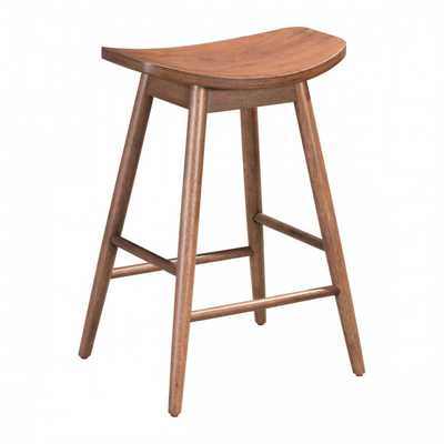 Trinity Counter Stool Walnut, Set of 2 - Zuri Studios