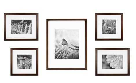5-Piece Gallery Picture Frame Web in Walnut - Bed Bath & Beyond