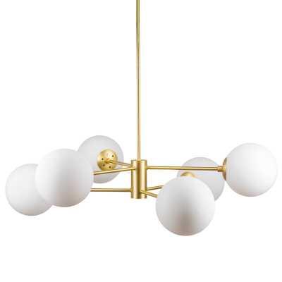 Nyla 6-Light Sputnik Linear Chandelier - Wayfair