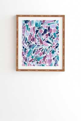 ARTSY BRUSH STROKES MAUVE - Wander Print Co.