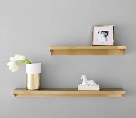 Floating Brass Metal Shelving, Large - Pottery Barn