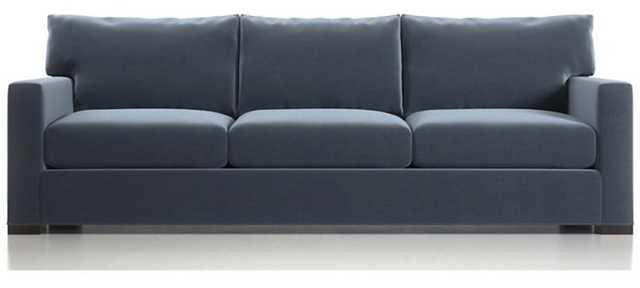 "Axis II 3-Seat 105"" Grande Sofa - Omega, Twilight - Fossil Legs - Crate and Barrel"