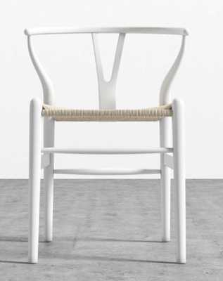 Wishbone Chair - white/natural - Rove Concepts