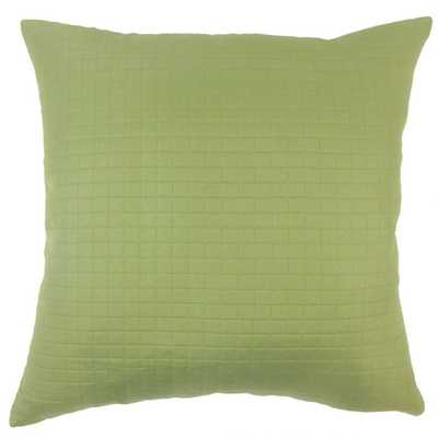 "Faylinn Solid Pillow Green - 22"" x 22""; down pillow insert - Linen & Seam"