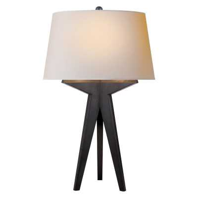 RUSSELL MODERN TRIPOD TABLE LAMP - AGED IRON - McGee & Co.