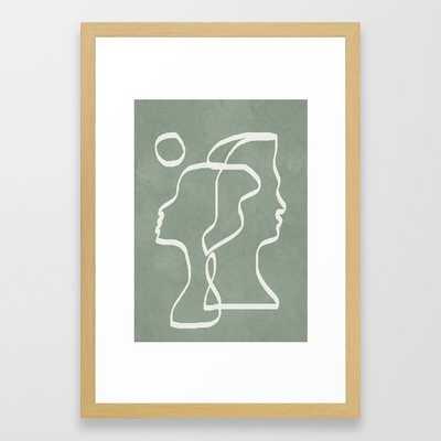Abstract Faces Framed Art Print - Society6