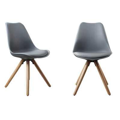 Tolson Plastic Dining Side Chair (Set 0f 2) - Gray - Wayfair
