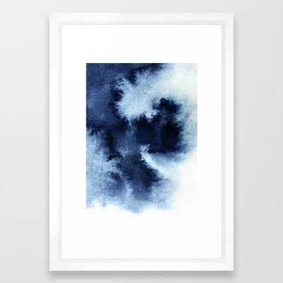 Indigo Nebula Framed Art Print - Society6