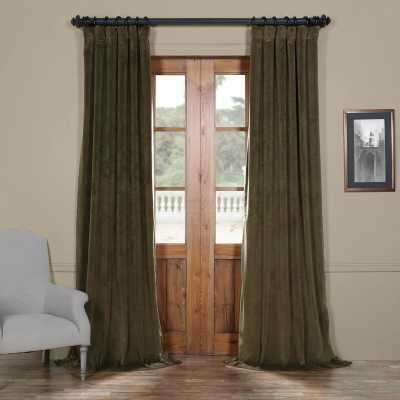 Albert Velvet Solid Blackout Thermal Rod Pocket Single Curtain Panel - Birch Lane