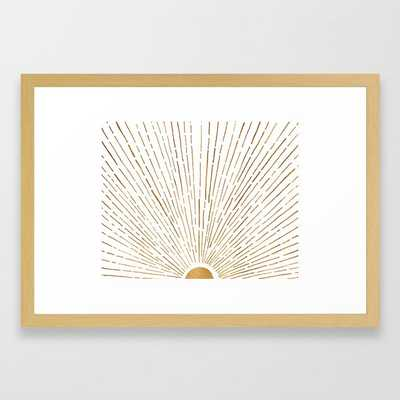 """Let the Sunshine In - Conservation Natural, 15x21"""" - Society6"""