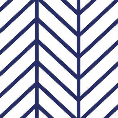 Turn on the Brights Nevaeh Herringbone Line Matte Peel and Stick Wallpaper Panel in Navy - Wayfair
