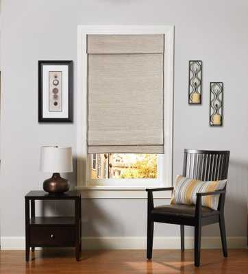 Custom Home Collection Designer Horizontal Natural Woven Roman Shade, Kula Coconut LIJU004 - Home Depot