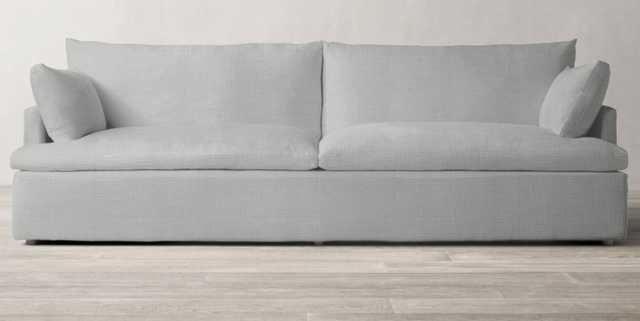 CLOUD TRACK ARM TWO-SEAT-CUSHION SOFA- Perennials Performance Textured Linen weave - Nickel - 7' Long - RH