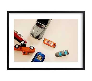 toy cars, Wall Art by Minted(R), 14x11, Black - Pottery Barn Kids