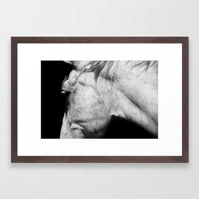 Casper   Animals   Horse Photography   black-white   nature Framed Art Print - Society6