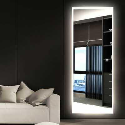 Molloy LED Dimmable Frameless Lighted Full Length Mirror - Wayfair