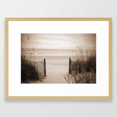 Eternity Framed Art Print - 20x26, conservation natural frame - Society6