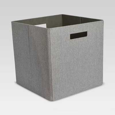 "Fashion Cube Storage Bin (13"") - Threshold - Gray Linen - Target"