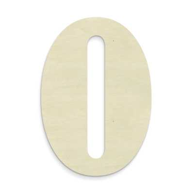 Janessa Large Wood Letter Hanging Initials-O - Wayfair