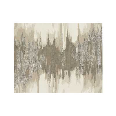 Birch Wool-Blend Abstract Rug 8'x10' - Crate and Barrel