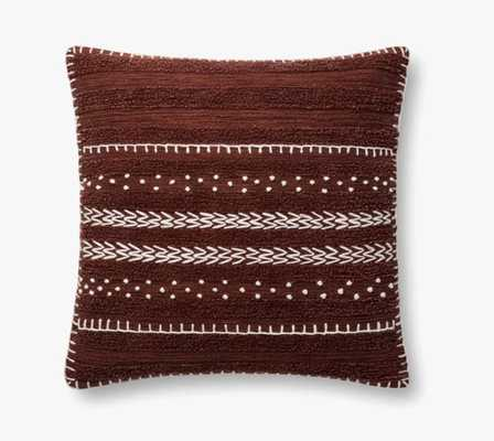 """P4095 ED BURGUNDY, 22"""" Pillow with Polyester Insert - Loma Threads"""