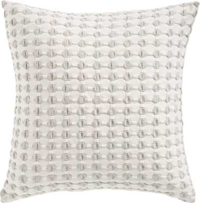 "20"" Estela Grey and White Pillow with Feather-Down Insert - CB2"