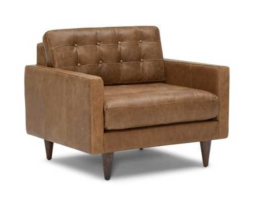 Eliot Leather Chair - Santiago Ale and Mocha - Joybird