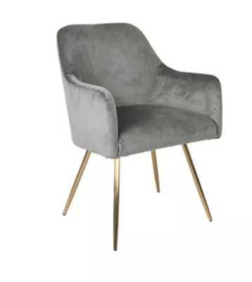 Evie Accent Chair Velvet Gray - HomePop - Target