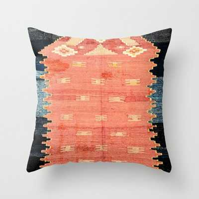South West Anatolia Antique Turkish Niche Kilim Print Throw Pillow - Society6