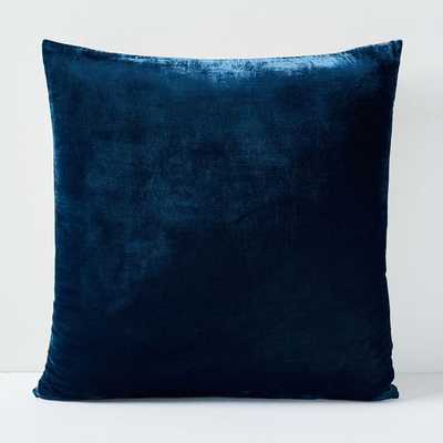 Lush Velvet Pillow Cover - Regal Blue - West Elm