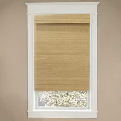Home Decorators Collection Cordless Natural Multi-Weave Bamboo Roman Shade - 35 in. W x 72 in. L (Actual Size 34.5 in. W x 72 in. L) - Home Depot