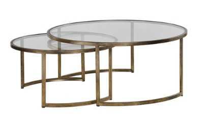ELLEN NESTING TABLE, GOLD (SET OF 2 - Lulu and Georgia
