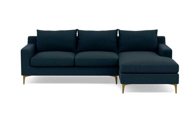 Sloan Sectional Sofa with Right Chaise- Blue - Interior Define