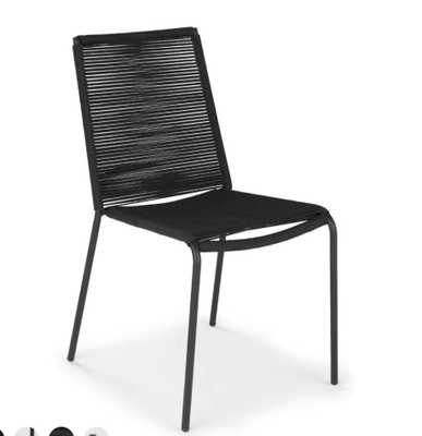 Zina Dining chair Black, Set of 2 - Article