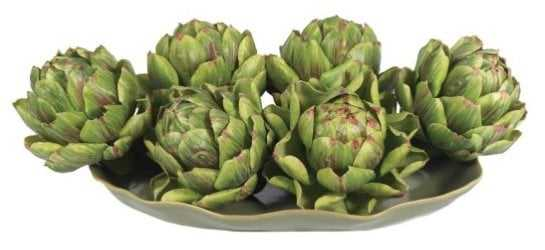 Faux Artichokes - Set of 6 - Hayneedle