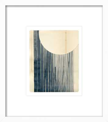 "Not a Circle (False 1) white wood frame with matte - framed 15"" x 17"" - Artfully Walls"