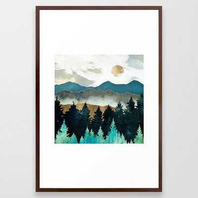Forest Mist framed art print - conservation walnut, 26x38 - Society6