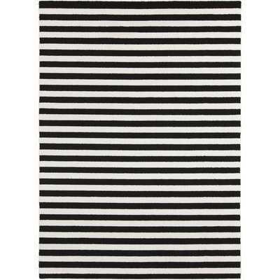 Leamon Stripe Hand-Woven Slate/Pearl Area Rug - Wayfair