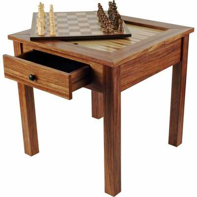 "19"" Chess & Games & Backgammon Table - Wayfair"