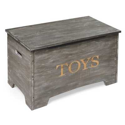 Braylon Solid Wood Rustic Toy Box - Wayfair