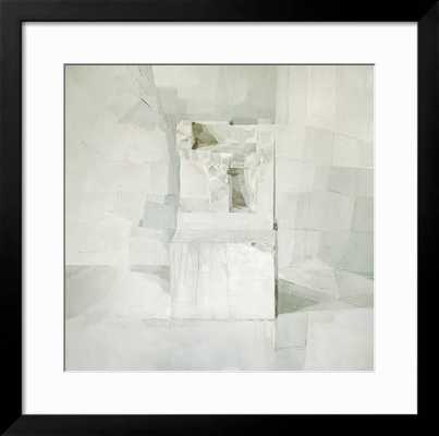 "WHITE -Framed art Print- Gramercy Black Frame- 30"" x 30"" - art.com"