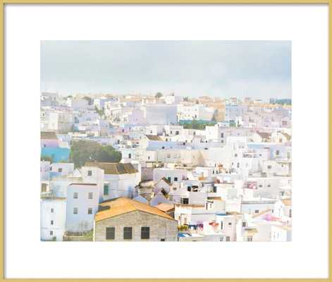 Andalucian White  BY KERI BEVAN- Framed Art Print- Frosted Gold Metal Frame- 24'' X 20'' - Artfully Walls