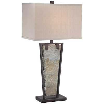 Zion Tapered Slate Table Lamp - Lamps Plus