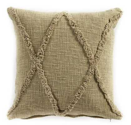 Carlton Diamonds Olive and Green 20 in. x 20 in. Pillow - Home Depot