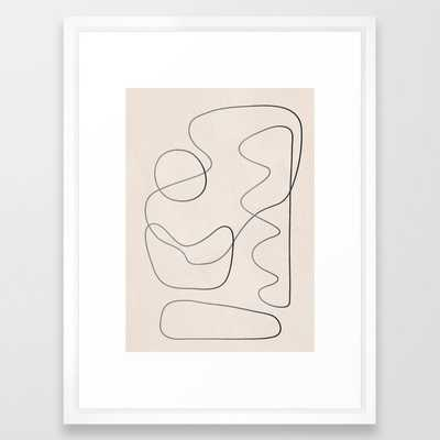 Abstract Line III Framed Art Print - Society6