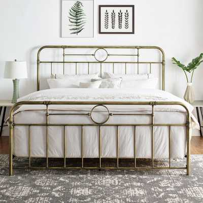 Middlebrook Designs Classic Antique Finish Metal Pipe Bed - Antique Bronze - Queen - Overstock